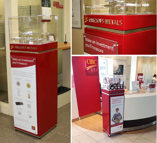CIBC Precious Metals Display at YYZ